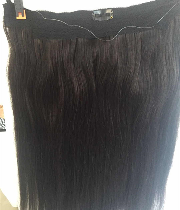 YL Human Hair Extensions Halo Invisible Wire Hair ...</>